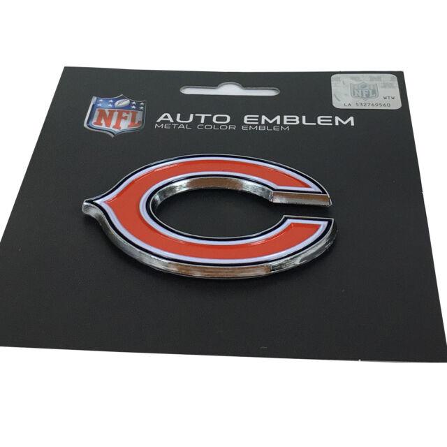 New NFL Chicago Bears Auto Car Truck Heavy Duty Metal Color Emblem