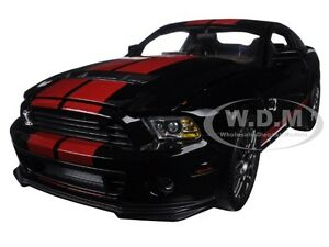 2013-FORD-SHELBY-MUSTANG-GT500-COBRA-BLACK-W-RED-1-18-SHELBY-COLLECTIBLES-SC399