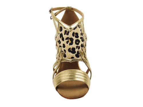 Latin Salsa Very Fine Ballroom Dance Women/'s Shoes SERA7016 Gold Leopard