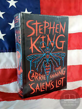 NEW SEALED Stephen King 3 Carrie Shining Salem's Lot Bonded Leather Hardcover