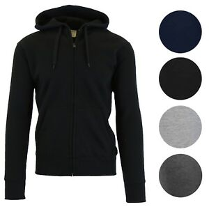 d0e2c10af Details about Mens Heavyweight Fleece Lined Hoodie Sweater Jacket Full  Zip-Up S M L Xl 2XL NWT