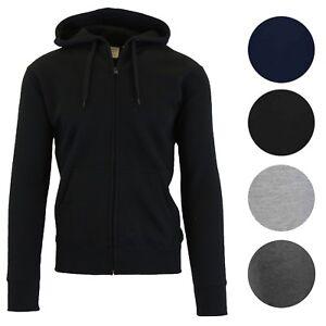 Mens-Heavyweight-Fleece-Lined-Hoodie-Sweater-Jacket-Full-Zip-Up-S-M-L-Xl-2XL-NWT