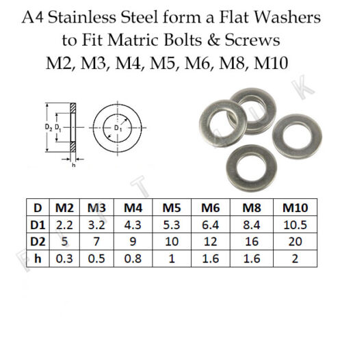 Form A Serrated Lock A2 Stainless Steel Size M2-M10 All Washers