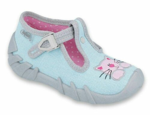Befado girls boys kids canvas trainers shoes nursery baby slippers  2-12 UK