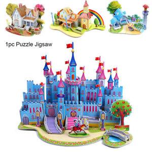 l-039-assemblage-de-jouets-en-papier-bricolage-puzzle-en-3d-modele-du-chateau
