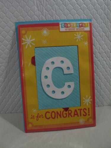 CONGRATULATIONS  BANNER HALLMARK 16 X 11 JUMBO GREETING CARD GROUP   614a