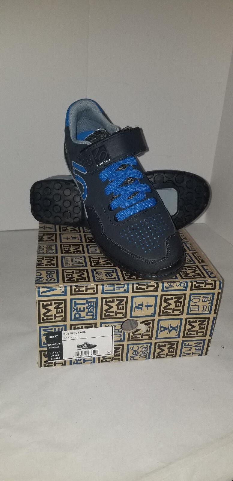 New Five Ten by by by Adidas Women's Kestrel Lace MTB shoes - Size 10.5 - Shock   bluee e30590