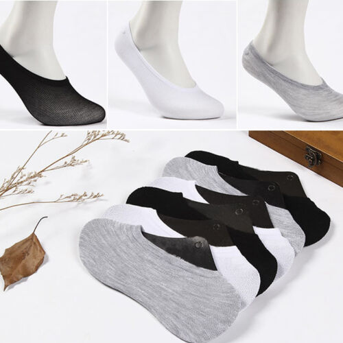 12 Pairs Men Women Cotton Loafer Boat Non-Slip Invisible Low Cut No Show Socks.