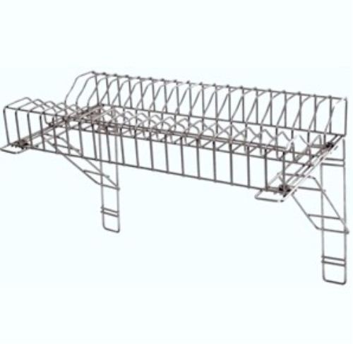 Stainless Steel Plate Rack u0026 2 Wall Brackets 60cm / 24  for Catering Kitchens  sc 1 st  eBay & 60cm Plate Rack Stainless Steel Heavy Duty Wire for Commercial ...
