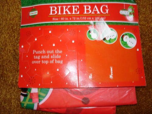 "Big Bike Bag 60/"" x 72/"" RED WITH SNOWMAN OR PENQUIM"
