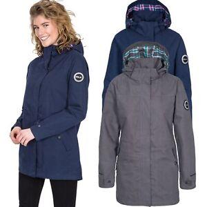 DLX-Womens-Parka-Jacket-Long-Waterproof-Coat-in-Navy-amp-Grey-XXS-XXL