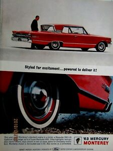 Details about 1963 Mercury Monterey 390 V8-Breezeway Back Window Original  Print Ad 8 5 x 11