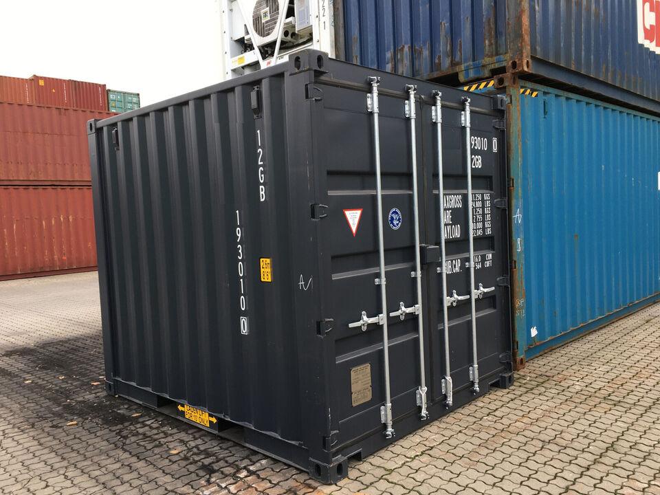Mørkegrå 10 fods isoleret container med forsikr...