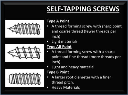 Self Tapping Screws A Point Pan A2 Stainless. Pozi