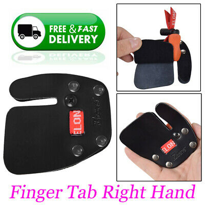 2X Finger Tabs Leather Protective Guard Archery Recurve Bow Right Handed Shooter