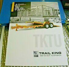 Factory 2015 Tktu Tilt Utility Trailers Open Bed Dealership Spec Brochure Manual