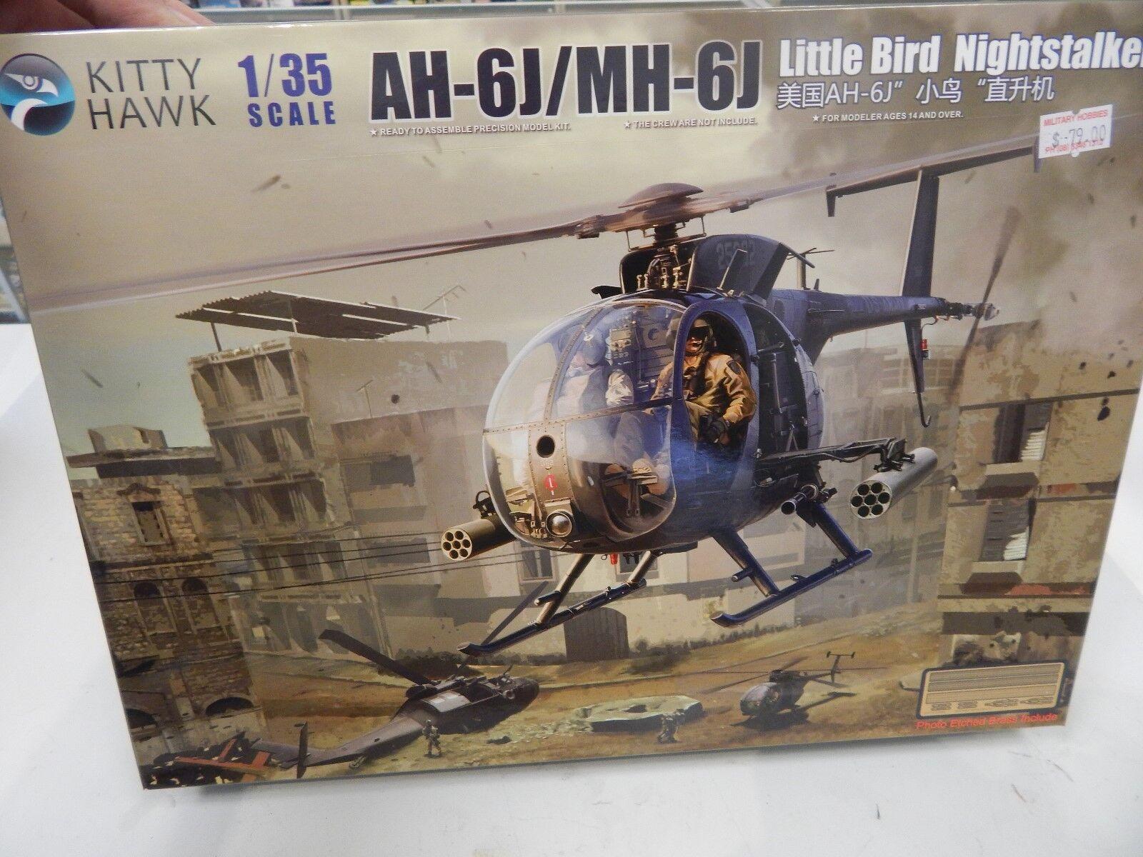 Kitty Hawk 1 35 plastic model kit AH-6J MH-6J Little Bird