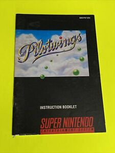 PILOTWINGS - Instruction Booklet Manual Original Book SNES SUPER NINTENDO