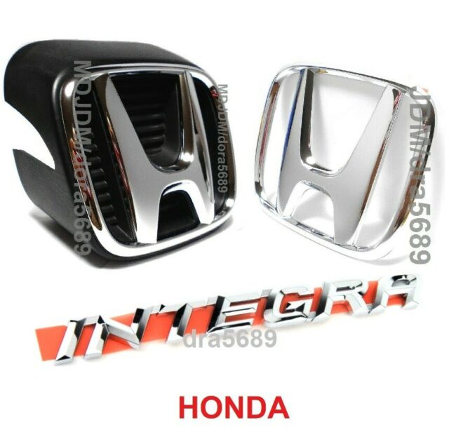 Oem Front Silver H + Rear H + Rear INTEGRA Emblem Set