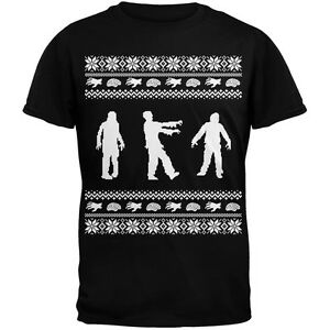Zombie Christmas Sweater.Details About Zombie Ugly Christmas Sweater Black Adult Men S T Shirt Top