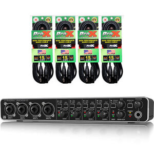 behringer umc404hd usb audio interface 4 midas mic preamps 4 xc mic15 cables ebay. Black Bedroom Furniture Sets. Home Design Ideas