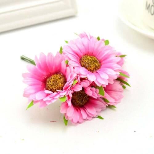 12Pcs Sun Flower Gerbera Home Garden Diy Artificial Flower Wedding Banquet Deco