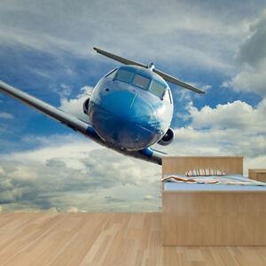 Jet Plane Flying Photo Wallpaper Mural Bedroom Design Wm155 Ebay