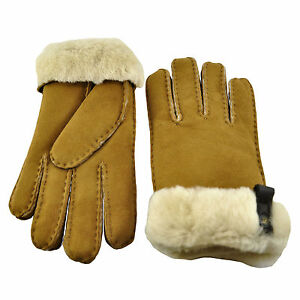 e5cb3e509 Women's UGG Tenney Shearling Sheepskin Glove 12689 Chestnut *New* | eBay