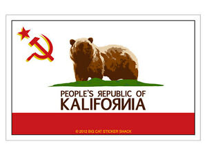 California-Commie-Flag-Bumper-Sticker