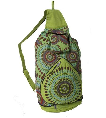 Kunst und Magie Bunter Hippie Rucksack Faltbar Goa Tasche Beutel Bunt Fair