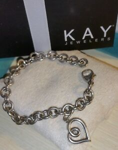 Image Is Loading Kay Jewelers Kays Sterling Silver Love Embrace Diamond