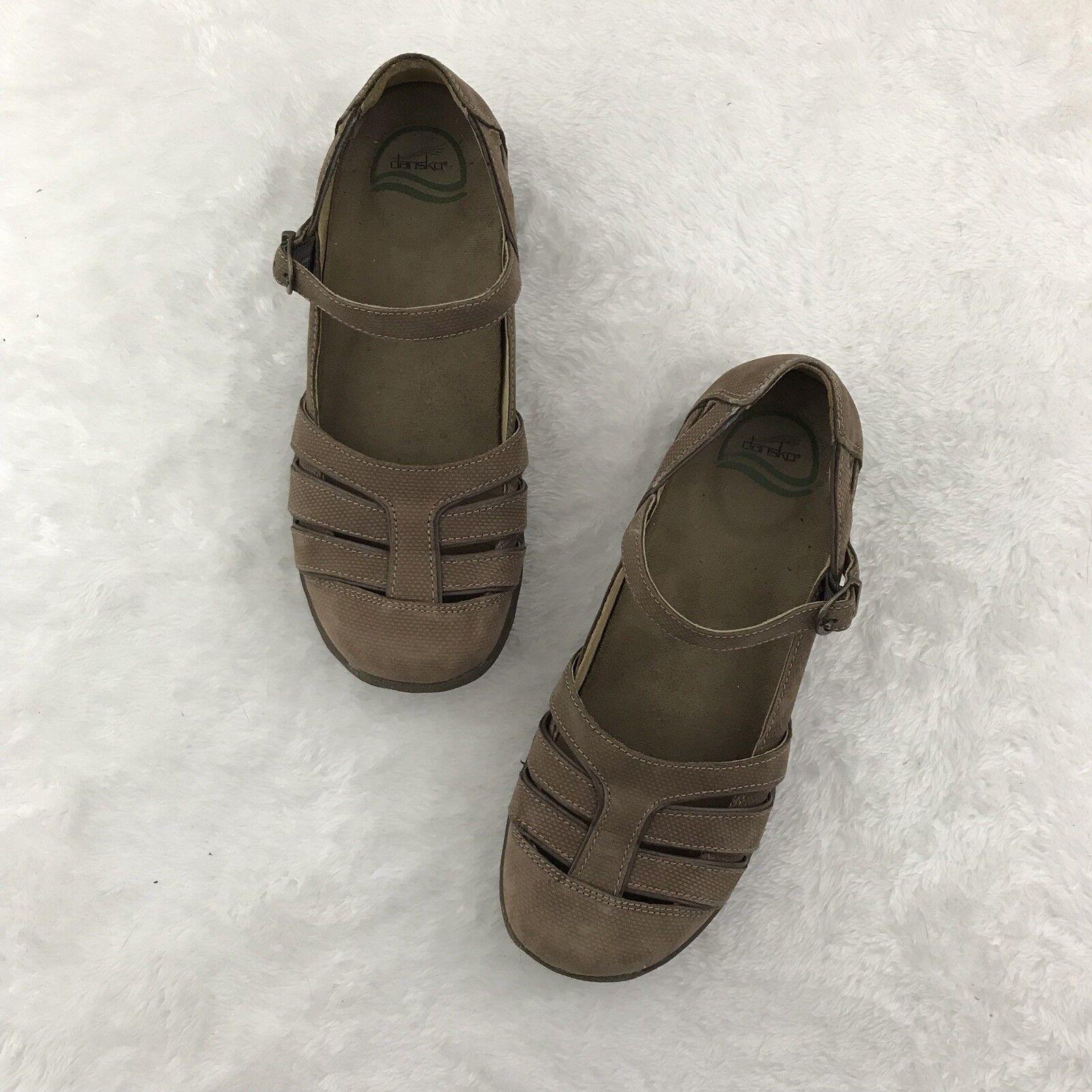 Dansko Dansko Dansko Women shoes 38 8 US Brown Leather Mary Jane Loafers Comfort Walking Clogs 69aba9