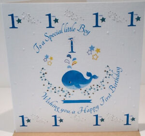 Image Is Loading Happy 1st Birthday Card For A Baby Boy