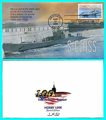 US NAVY SUBMARINES SET OF 5 FDC'S HOBBY LINK