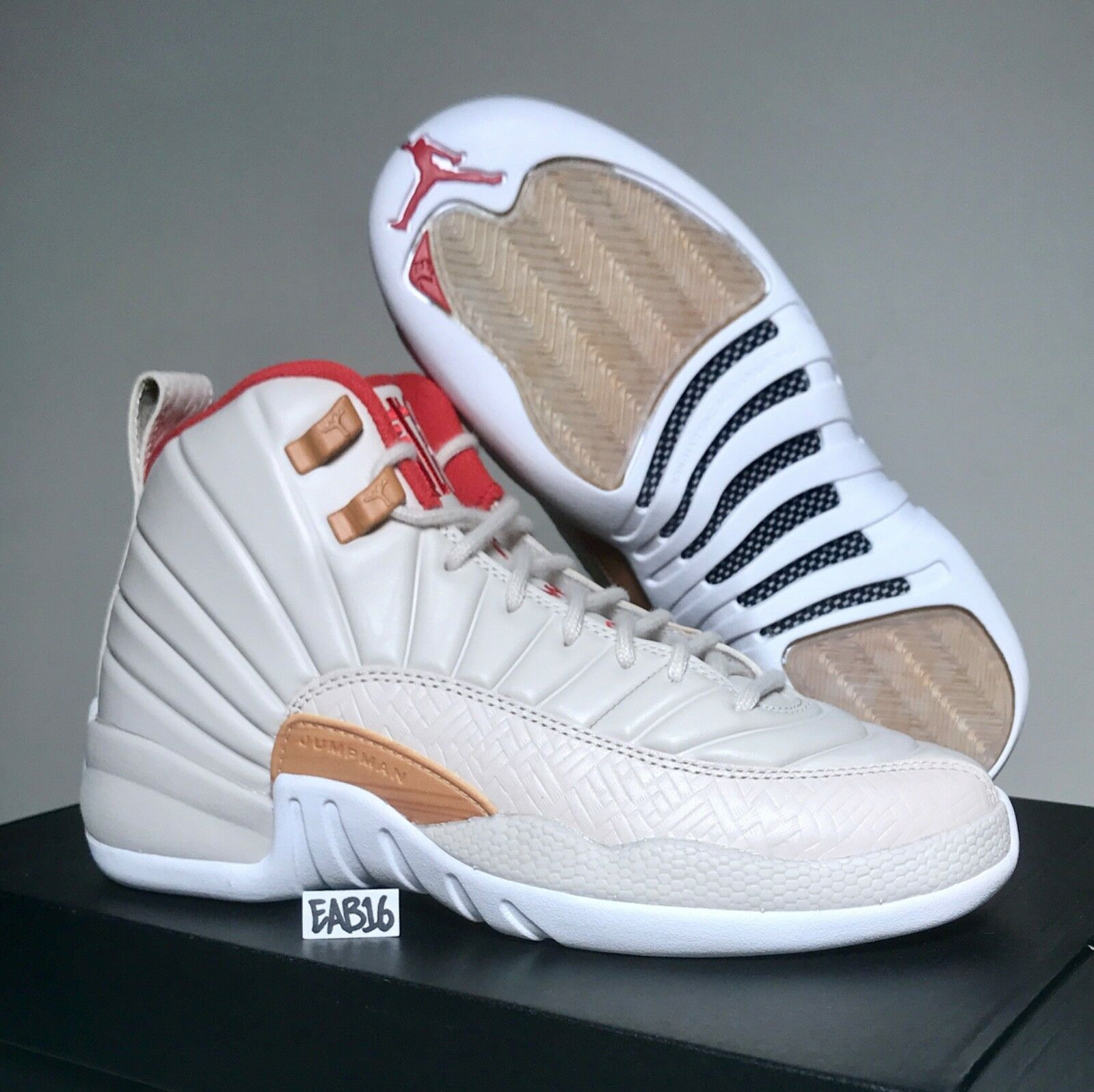 Nike Air Jordan Retro XII 12 CNY GG Chinese New Year 881428 142 GS Size 4 4.5 Y