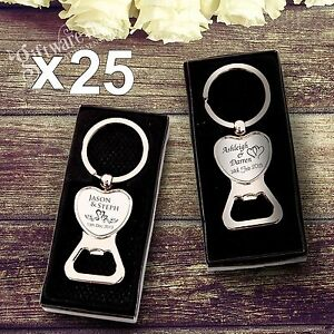 Image Is Loading 25 X Engraved Solid Heart Bottle Opener Keyring