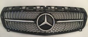 MERCEDES-BENZ-A-CLASS-W176-FRONT-GRILLE-PRE-FACELIFT-DIAMOND-BLACK-AND-CHROME