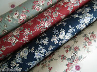 """Vintage Rose Floral Print Shabby Chic, 100% Crafting Cotton 45 """" Wide - M28 Mtex"""