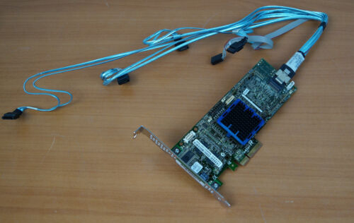 Adaptec ASR-3405 128MB 4-Port PCI-E RAID Controller Card With Cable V15728