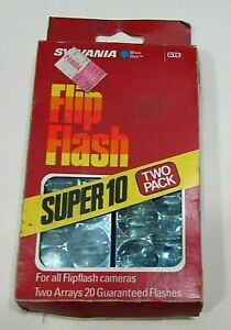 Vintage 1980's Unused Sylvania GTE Blue Dot Flip Flash Super 10 Two Pack FREE SH