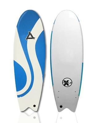"Triple X Soft Top 5/' 10/"" Fishboard Surfboard//Beginner//Kid/'s//Waverly"