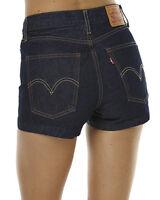 New Levi's Levis Womens Dark Wash High Rise Denim Jeans Shorts Size 27