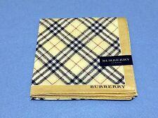 "AUTHENTIC BURBERRY Official  License Scarf Handkerchief  58cm 23"" 229 Beige"