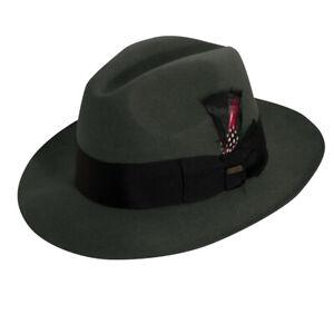 L M XL Men/'s Godfather Dress Hat Solid Brown GF-101 100/% Wool Sizes S