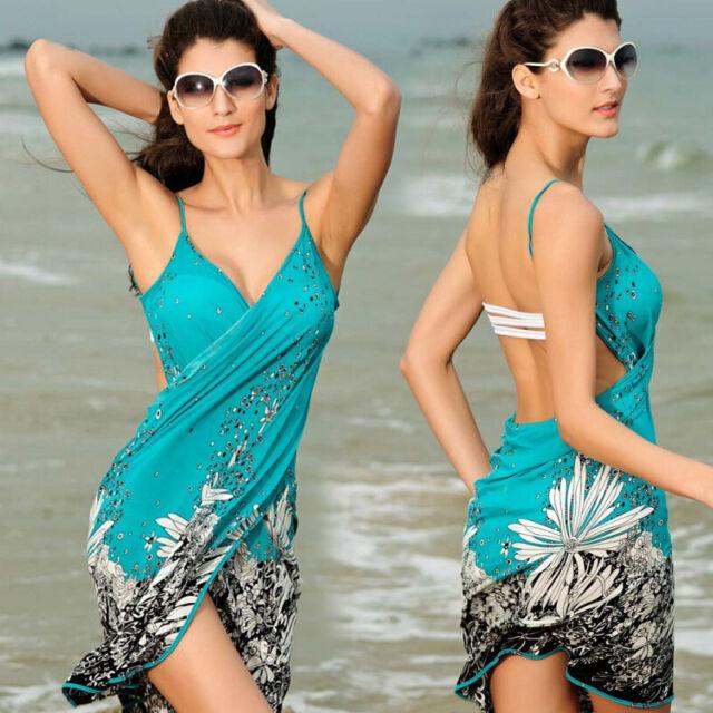 Sexy Women Beachwear Swimwear Bikini V-Neck Cover Up Kaftan Hot Summer Top Dress