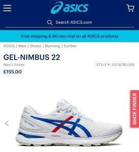 BNIB Mens Asics Gel - Nimbus 22 Running