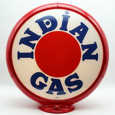"""READY FOR YOUR PUMP!! WHITE EAGLE 13.5/"""" Gas Pump Globe SHIPS FULLY ASSEMBLED"""
