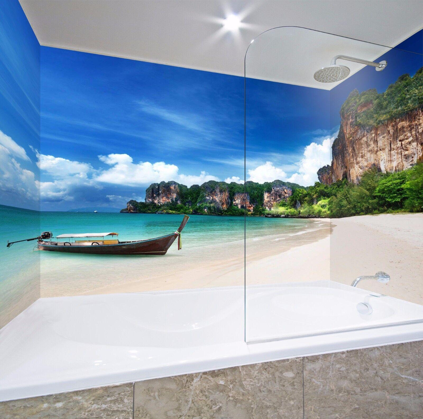 3D Sea Boat 62 WallPaper Bathroom Print Decal Wall Deco AJ WALLPAPER AU