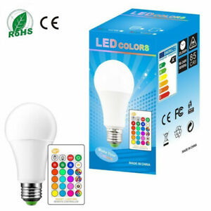 RGB-RGBW-LED-bulb-Light-Color-Change-15W-E27-Lamp-Bulbs-Remote-Controller