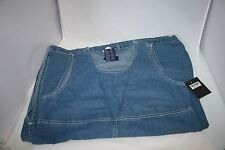 Women  Blue Denim Jean Jumper Dress SZ M Medium Modesty Pockets